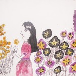 Gerda v zahradě